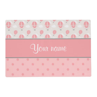Hot Air Balloons and Polka Dots Personalized Placemat