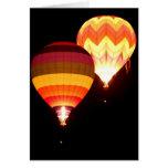 Hot Air Balloons at Night Card