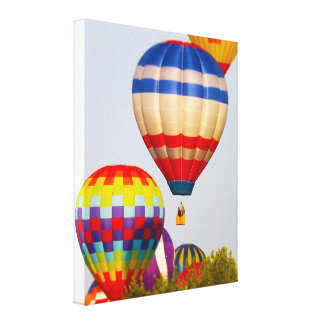 Hot Air Balloons, Balloon Fest, Olathe, Kansas 2 Canvas Print