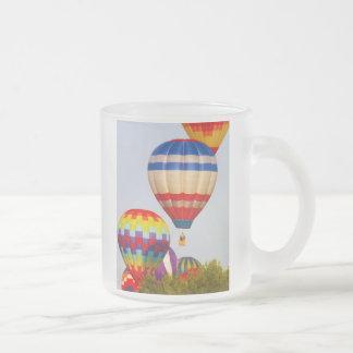 Hot Air Balloons, Balloon Fest, Olathe, Kansas 2 Frosted Glass Coffee Mug