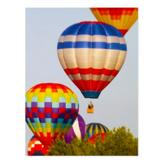 Hot Air Balloons, Balloon Fest, Olathe, Kansas 2 Postcard
