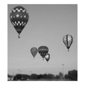 Hot Air Balloons, Balloon Fest, Olathe, Kansas 3 Poster