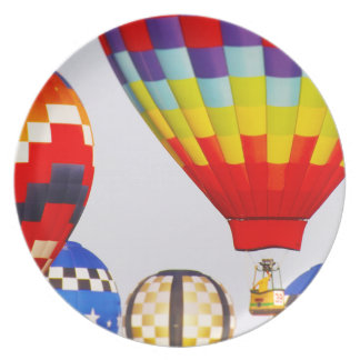 Hot Air Balloons, Balloon Fest, Olathe, Kansas Plate