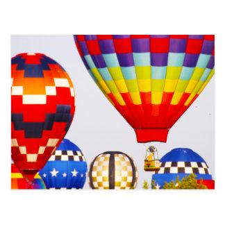 Hot Air Balloons, Balloon Fest, Olathe, Kansas Postcard