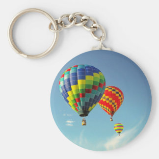 Hot Air Balloons Basic Round Button Keychain
