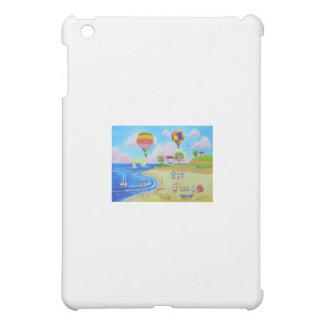 Hot air balloons beach folk art painting iPad mini cases