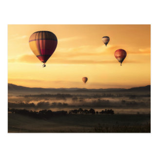 Hot Air Balloons Beautiful Nature Scenery Postcard