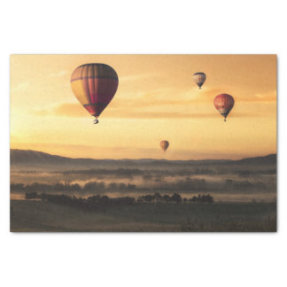 Hot Air Balloons Beautiful Nature Scenery Tissue Paper