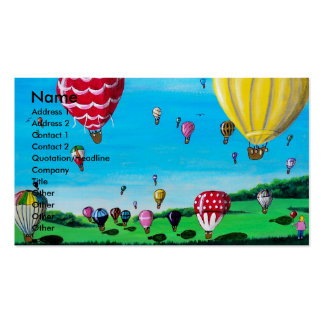 Hot Air Balloons Business Card Templates