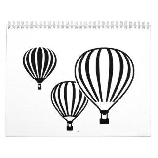 Hot air balloons calendar