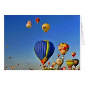 Hot air balloons Card Tarjeta De Felicitación