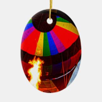 Hot Air Balloons Ceramic Ornament