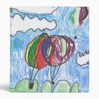 Hot Air Balloons Childs Artwork marker and crayon Vinyl Binders