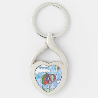 Hot Air Balloons Childs Artwork marker and crayon Key Chains