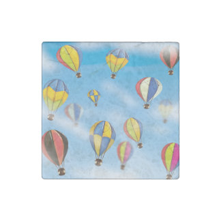 Hot Air Balloons Stone Magnet