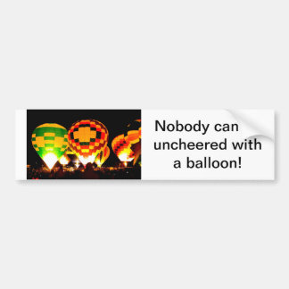 Hot Air Balloons Glowing at Night Bumper Sticker
