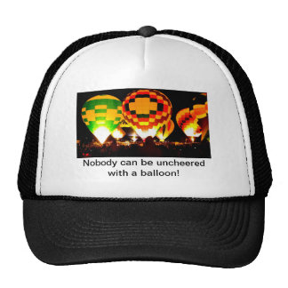 Hot Air Balloons Glowing at Night Trucker Hat