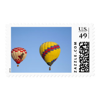 Hot air balloons in flight 2 stamp