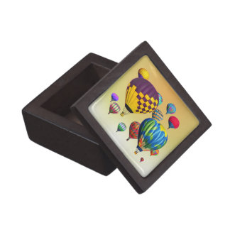 Hot Air Balloons in Flight Jewelry Box