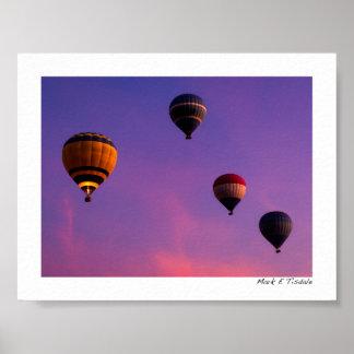 Hot Air Balloons In Flight Over Egypt - Mini Print