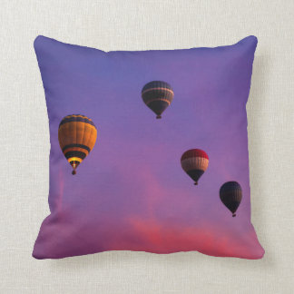 Hot Air Balloons In Flight Over Egypt Throw Pillows