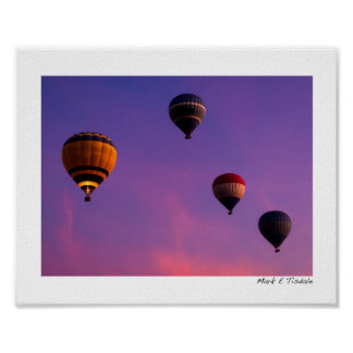 Hot Air Balloons In Flight Over Egypt - Small Print