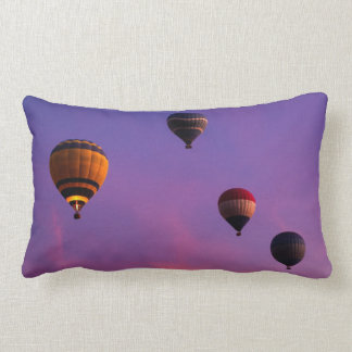 Hot Air Balloons in Flight Throw Pillows