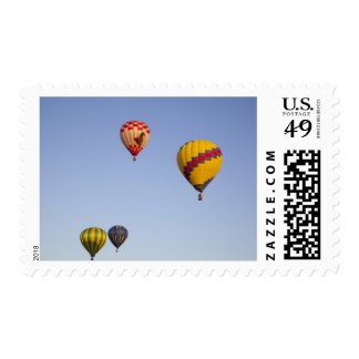 Hot air balloons in flight postage stamp