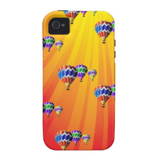 Hot Air Balloons in Rays of Sunshine iPhone 4 Case