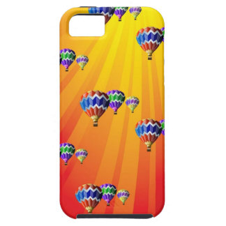 Hot Air Balloons in Rays of Sunshine iPhone 5 Case