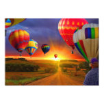 "Hot Air Balloons Invitation 5"" X 7"" Invitation Card"