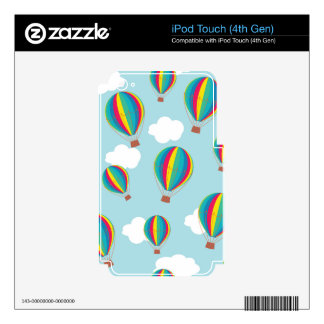 Hot air balloons iPod touch 4G decal