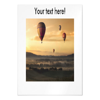 Hot air balloons magnetic card