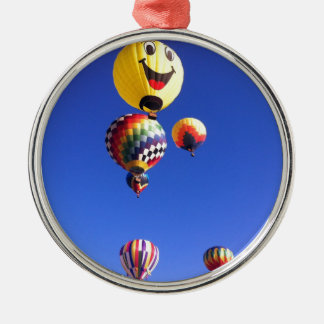 Hot air balloons metal ornament