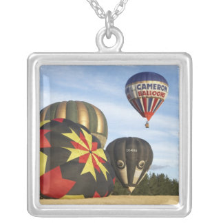Hot Air Balloons near Wanaka, South Island, New Silver Plated Necklace