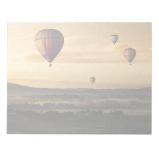 Hot air balloons notepad