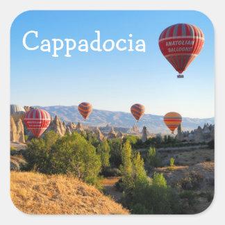 Hot air balloons over Cappadocia Square Sticker
