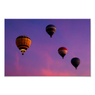 Hot Air Balloons Over Egypt - 12x8 Archival Poster