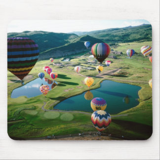 Hot Air Balloons Over Lakes Mousepad