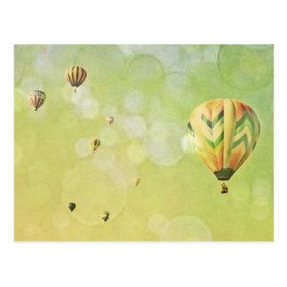 Hot Air Balloons Photography Gold Bubbles Postcard