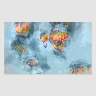 Hot Air Balloons Rectangular Sticker
