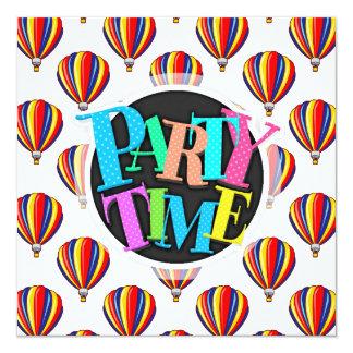 Hot Air Balloons; Red, Blue, Yellow Balloon Card