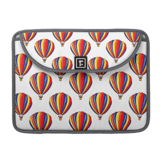Hot Air Balloons; Red, Blue, Yellow Balloon Sleeves For MacBooks