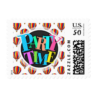 Hot Air Balloons; Red, Blue, Yellow Balloon Postage