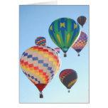 Hot Air Balloons Rising Greeting Card