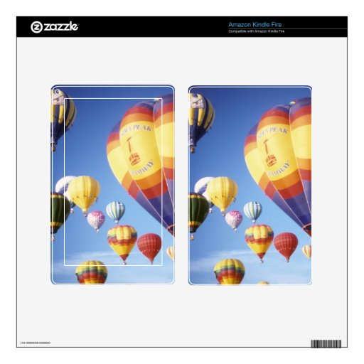 Hot air balloons skin for kindle fire