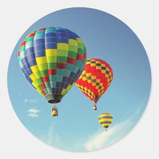 Hot Air Balloons Round Sticker
