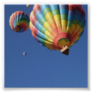 Hot Air Balloons Up Above Poster