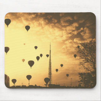Hot Air Balloons Vintage Sky Scenery Mouse Pad