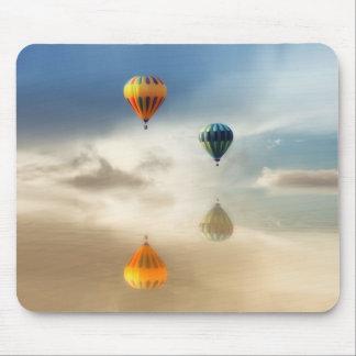 Hot Air Balloons Water Reflection Mouse Pad
